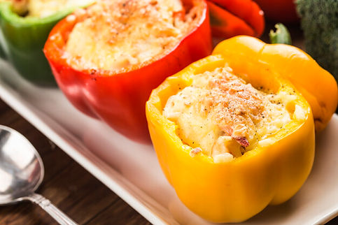 seafood-rice-with-cheese-stuffed-peppers