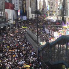 2019年11月香港でのデモ