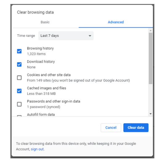 Turn off Cookies for Chrome