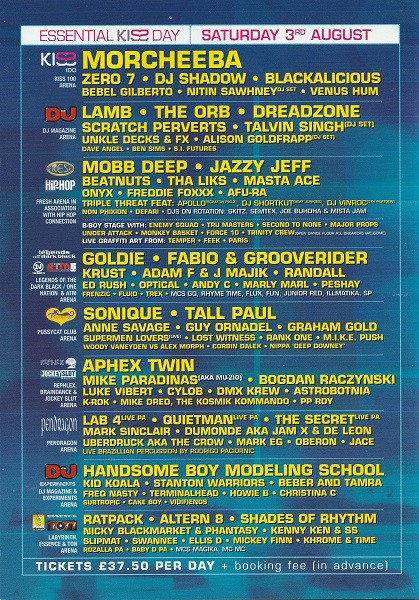 3rd August 2002 - Essential Festival Flyer 2 (Page 2)