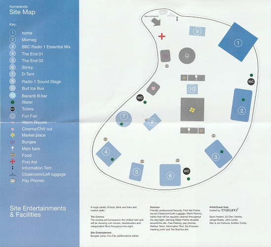 Homelands Festival - Site Map