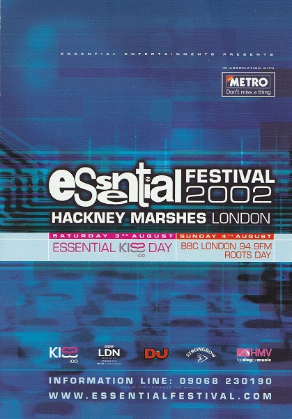3rd August 2002 - Essential Festival Flyer 2 (Page 1)