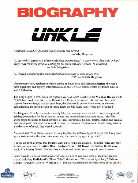 US UNKLE Bio (Front)