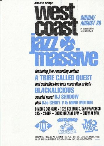 West Coast Jazz Massive Flyer - Front