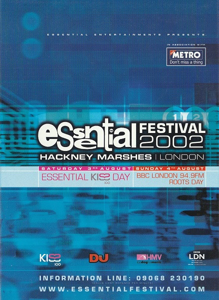 3rd August 2002 - Essential Festival Flyer 1 (Front)