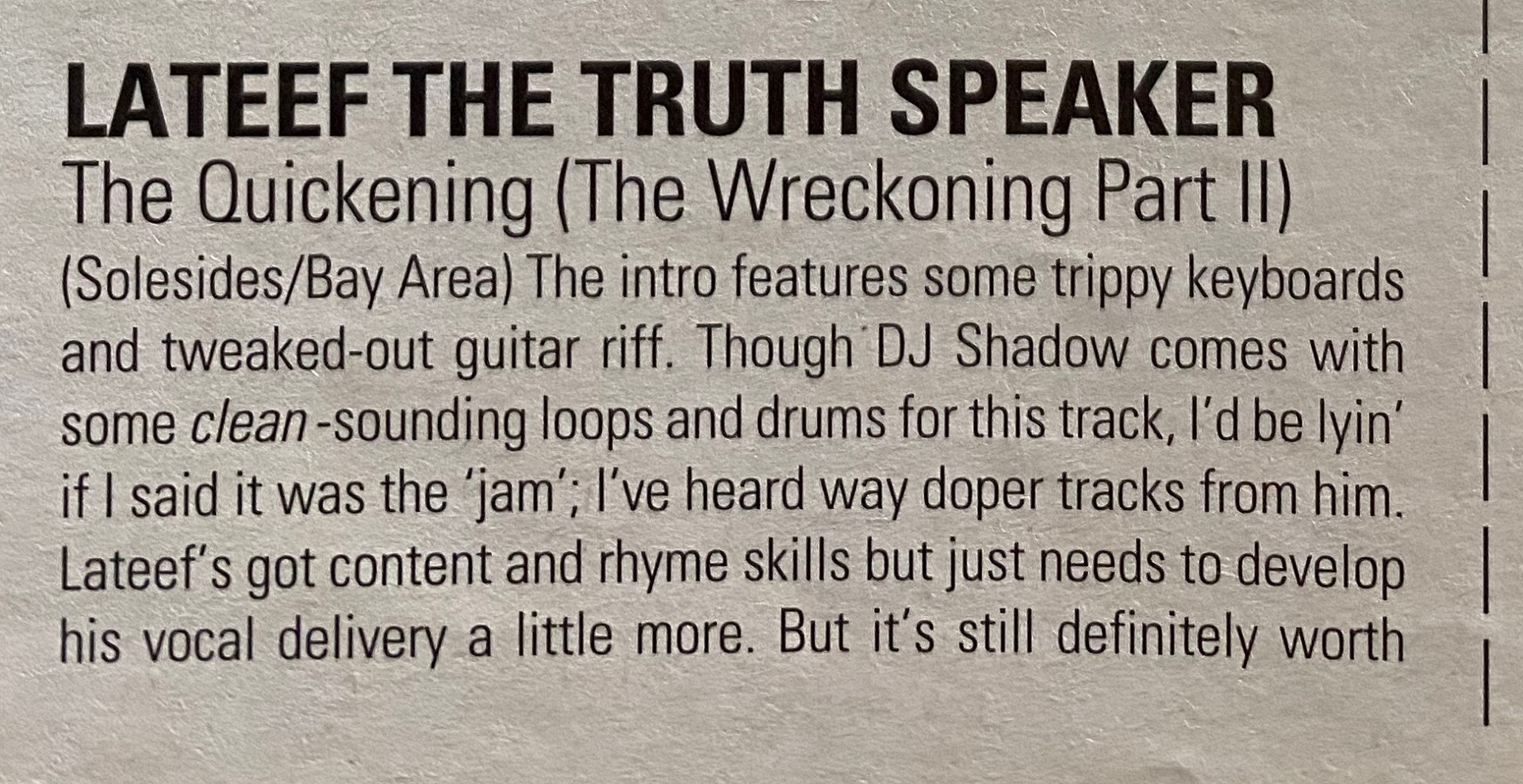 The Quickening (The Wreckoning Part II) Review part 1