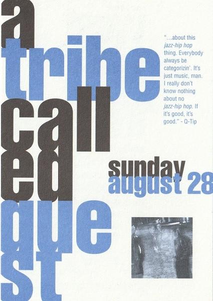 West Coast Jazz Massive Flyer - Back