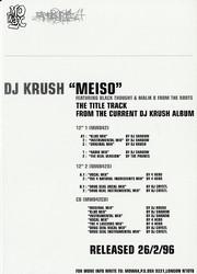 DJ Krush - Meiso (Back)