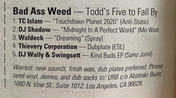 Urb Bad Ass Weed Chart