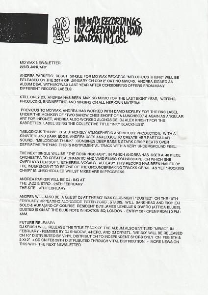 MW Newsletter Jan 96