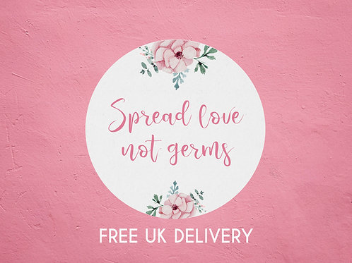 Spread Love Not Germs Pink Floral Stickers