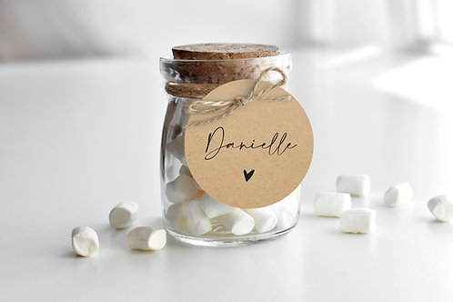 Rustic Wedding Guest Name Tags