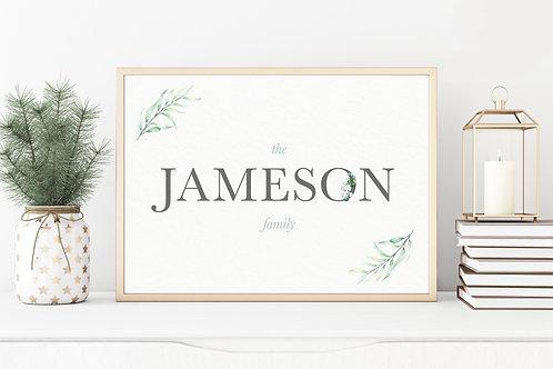 Personalised Family Greenery Print
