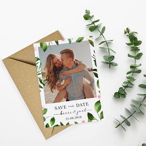 Floral Photograph Save the Dates