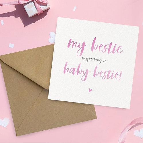 Baby Bestie Card