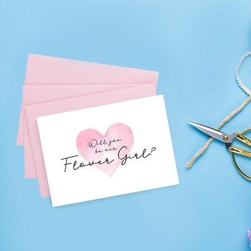 A6 Flower Girl Proposal Card