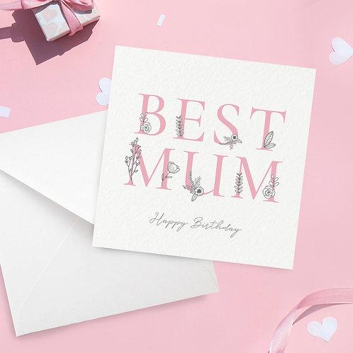 Best Mum Birthday Card