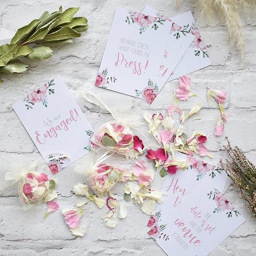 Pink Wedding Milestone Cards