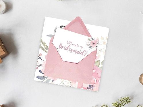 Surprise Bridal Party Proposal Card