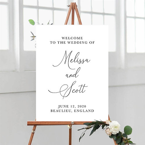 Classic Elegant Welcome Sign