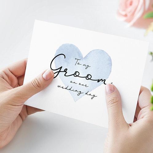 To my Groom A6 Card
