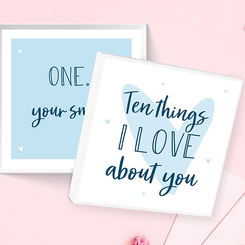 Ten Things I Love About You Box - Blue