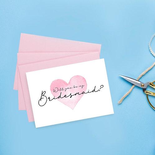 A6 Bridesmaid Proposal Card