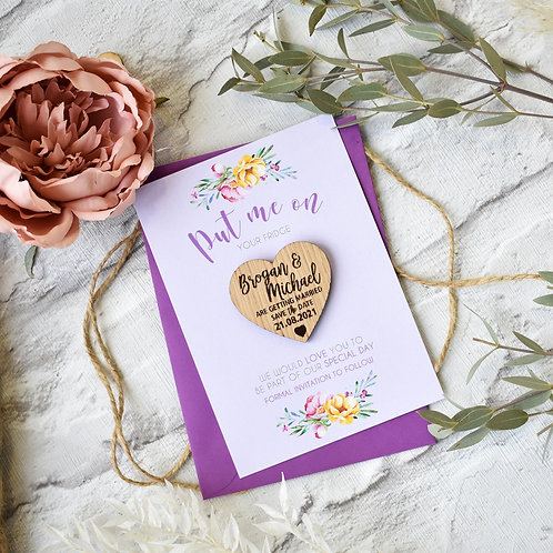 Magnet Save the Dates - Lilac Florals