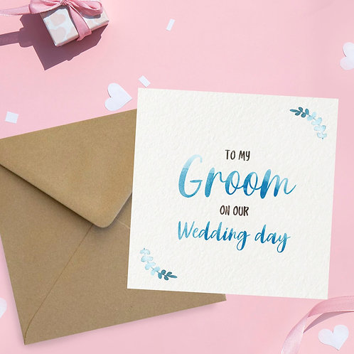 To my Groom Square Card