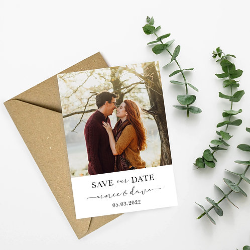 Engagement Photograph Save the Dates