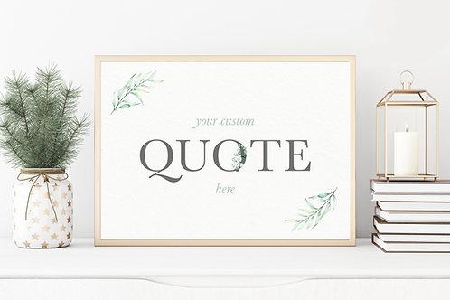 Custom Horizontal Greenery Print