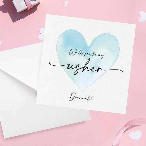 Personalised Usher Proposal Card