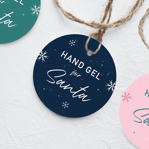 Hand Gel for Santa Tag