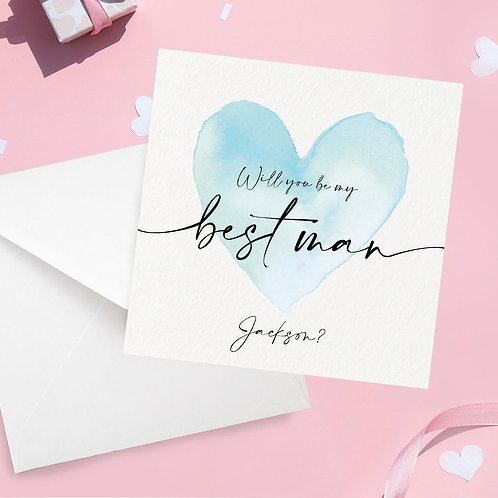 Personalised Best Man Proposal Card
