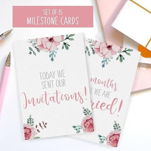 15 Wedding Milestone Cards