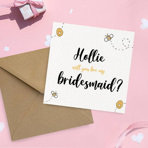 Personalised Bee Themed Proposal Card