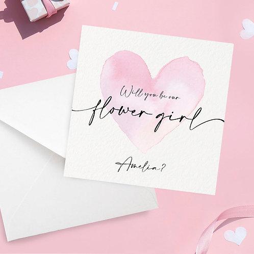 Personalised Flower Girl Proposal Card