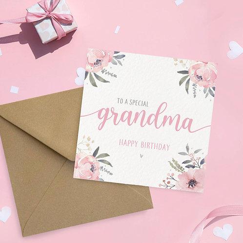 Grandma Birthday Card