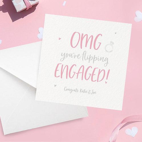 OMG Engagement Card