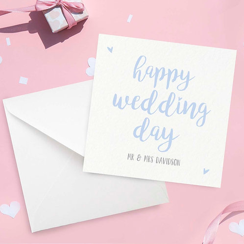 Personalised Happy Wedding Day Card