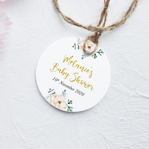 Neutral Baby Shower Tags