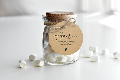Rustic Wedding Favour Tags