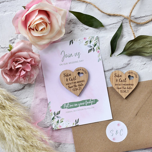 Magnet Save the Dates - Green Foliage