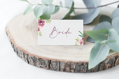 Grey and Dusky Pink Floral Guest Name