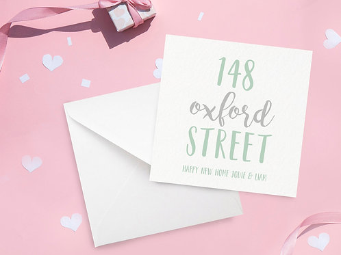 Personalised New Home Card with Address