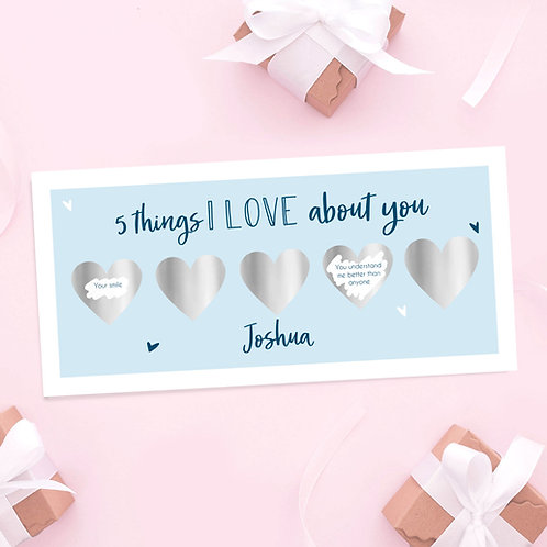 5 Things I Love About You Scratch Off - Blue