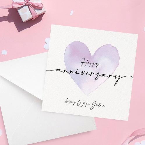To my Husband/Wife Anniversary Card