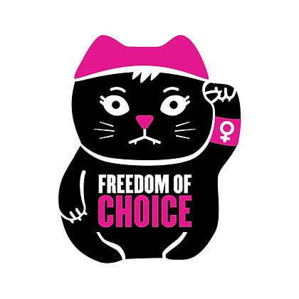 Freedom of Choice Die-Cut Sticker