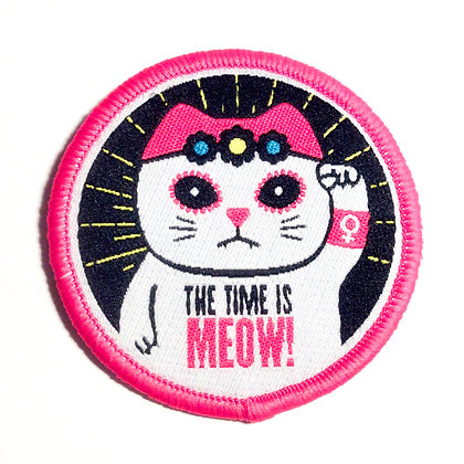 THE TIME IS MEOW! Embroidered Patch