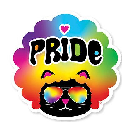 Cool Kat Rainbow Die-Cut Sticker